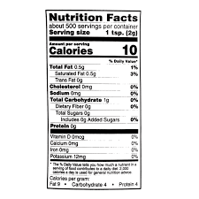 Folgers Coffee Nutrition Facts