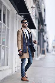 men u0027s camel overcoat navy blazer white dress shirt blue skinny