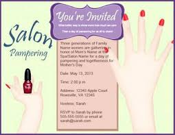 Birthday Invitation Templates Spa Template 6
