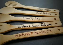 5 Personalized Kitchen Utensils Wedding Gift For Couple Engraved