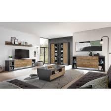 industrial style wohnwand set mit sideboard und couchtisch tirana 61 m