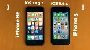 iPhone SE vs iPhone 5 ios 10 vs ios 6 speed test