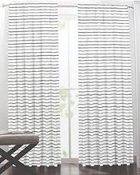 Striped Curtain Panels 96 by 60 Pair Amazonsmile Hillcrest Wide Stripes Curtains 2 Panels
