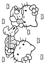 HELLO KITTY EASTER COLORING SHEET