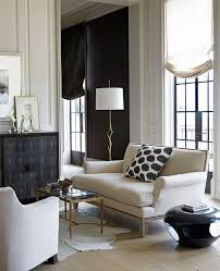 Black And White Chic Living Room Restraintindecorating