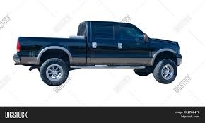 Black Four Door Truck Image & Photo | Bigstock