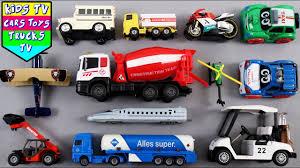 100 Bullet Trucks Learn Vehicles For Kids Cement Mixer Trailer Truck Train