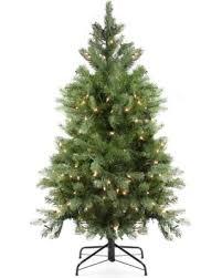 4 Ft Pre Lit Artificial Noble Fir Christmas Tree Green