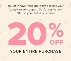 Your 20% Off Sitewide Coupon Is Waiting! - Lulus Email Archive Lulus On Twitter The Hunt Ends Soon Its Your Last Day To Honey Finds And Applies Coupon Codes Automatically In Online Code 25 Off Luluscom Coupons Promo 82219 Insider By Boulder Weekly Issuu Skin Care Codes Discounts And Promos Wethriftcom 10 Best Jan 20 Strike Free Printable Deals Missy Home Facebook Lulu Latest Promotions Electronics For Less 70 Off Followersheavende Jan20 How Apply Sky Coupon Code