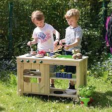 outdoor küche aus massivholz zum spielen für kindergarten