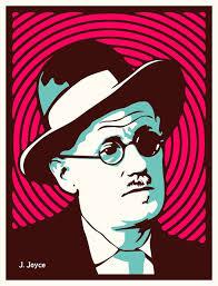 James Joyce Illustration SMALL PRINT Poster Tribute To Writer