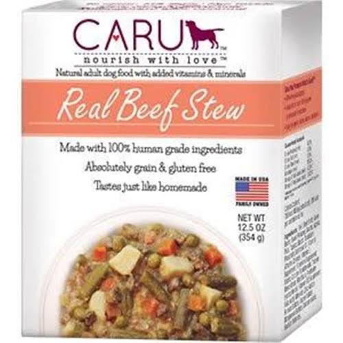 Caru Daily Dish Natural Adult Wet Dog Food - Beef With Chicken Stew, 345g
