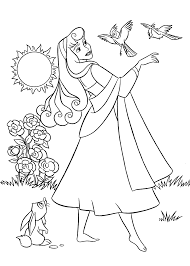 Sleeping Beauty Coloring Pages For Kids Printable Free New Princess
