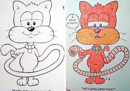 What Coloring Books Look Like In The Hands Of Demented Adults