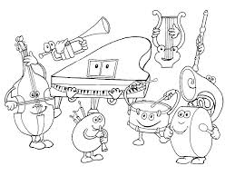 Musical Instruments Coloring Pages For Kids 33