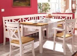 essgruppe 4teilig eckbank tisch 1 stuhl 1 armlehnstuhl kiefer massiv 2farbig weiß lasiert gelaugt geölt casade mobila