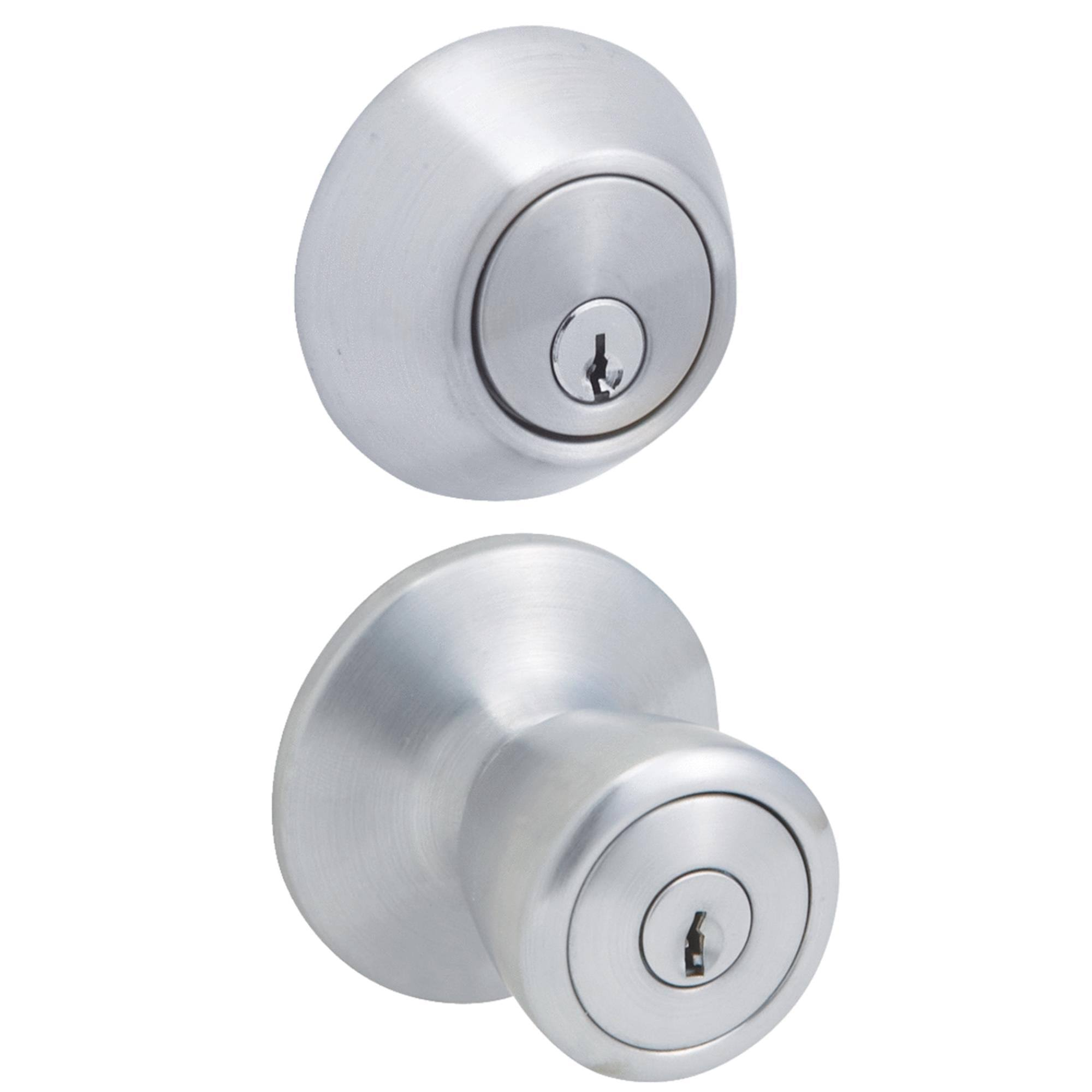 Do It Best Steel Pro Entry Lockset And Single Cylinder Combo