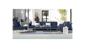 Crate And Barrel 2 Office Chair by Dune Left Arm Loveseat With Sunbrella Cushions Crate And Barrel