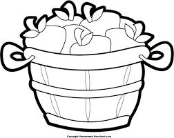 Free Bushel Basket Coloring Pages
