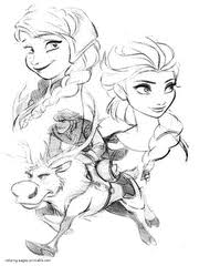 Frozen Print Coloring Pages For Free