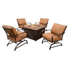 Patio Furniture Conversation Sets With Fire Pit by Bradford 5pc Metal Patio All Weather Wicker Patio Conversation Set