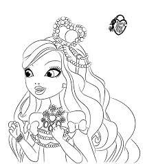 Ashlynn Ella Wearing Beautiful Crown In Ever After High Coloring Pages