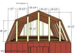 12x12 gambrel shed roof plans myoutdoorplans free woodworking