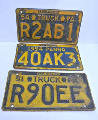 Vintage Set Of Three (3) 1950s Pennsylvania License Plates Truck ... Gta 5 How To Get Custom Lettering On Your License Plates 1970 South Dakota Truck Truck Nc Dmv Running Out Of Obx License Plates News Obsver Why Steve Jobs Mercedes Never Had A Plate Cult Mac Plate Slogans Allow Any Or None The Portly Chronicles This May Be The Best Ive Ever Seen Funny Usforcey2khtml Set 2 1956 Genuine West Texas Platessold In Mad Maxs Authentic Regular Department Revenue Motor Vehicle