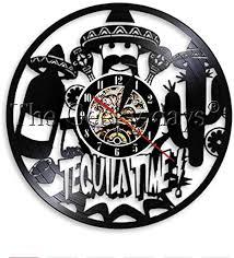 de wwwff 1 stück tequila vinyl wanduhr bar uhr