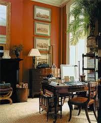 Burnt Orange Office Space By Gil Schafer
