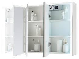 spiegelschrank badezimmerschrank badspiegel badschrank badmöbel kirkja iii weiß weiß 106 cm