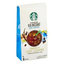 Starbucks Via Instant Iced Coffee Vanilla Packets