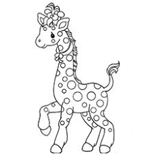 Picture Of Giraffe Prancing Printable Coloring Pages