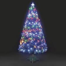 buy 6ft galaxy multi colour fibre optic christmas tree with leds