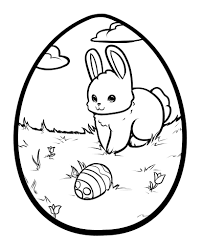 Awesome Easter Bunny Egg Coloring Page High Quality