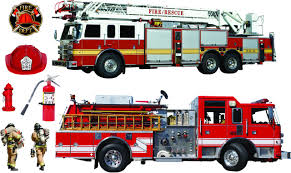 Amazoncom: Fire Truck Firefighter Room Decor Giant Wall, Fire Truck ...