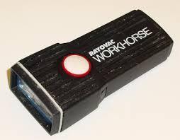 rayovac flashlight aa black plastic workhorse c 1980