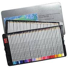 Colored Pencils 72 Count Set Of Colors Drawing Metal Box For Secret Garden Enchanted Forest