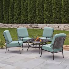 Hampton Bay Patio Furniture Cushion Covers by Hampton Bay Belcourt 5 Piece Metal Patio Fire Pit Conversation Set