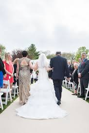 Beautiful outdoor ceremony at The Villa in East Bridgewater