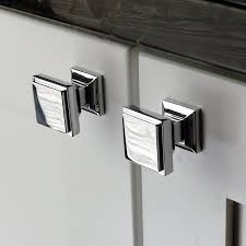 Wayfair Kitchen Cabinet Pulls by Chrome Square Cabinet Knobs Roselawnlutheran
