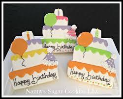 Nanny s Sugar Cookies LLC Birthday Cookie Favors