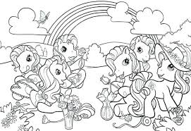 My Pony Coloring Pages Epic Little Ponies On Print With
