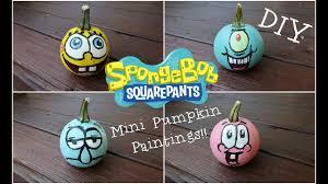 Spongebob Pumpkin Carving by Fall Diy Spongebob Pumpkin Painting Youtube