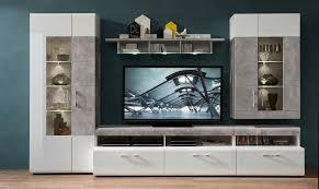 spirit wohnwand inkl led beleuchtung weiß grau günstig möbel küchen büromöbel kaufen froschkönig24