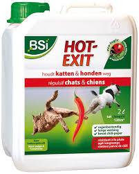 bsi 3417 exit 2 lit spray répulsif pour chasser chats chiens