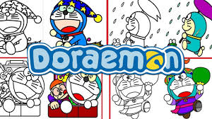 Doraemon Cartoon Game Coloring Book
