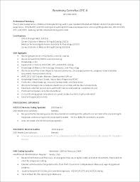 Medical Coding Resume Objective Examples Billing Sample Extraordinary For Classy