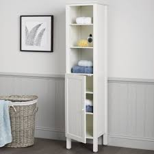 Tall Corner Bathroom Linen Cabinet by Bathroom Cabinets White Wooden Tall Free Standing Bathroom