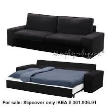 ikea cover for ikea kivik sofabed sleeper sofa tranas black
